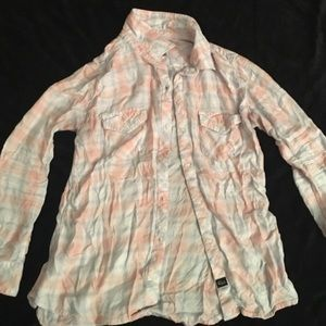 Rails pink and blue button down size medium